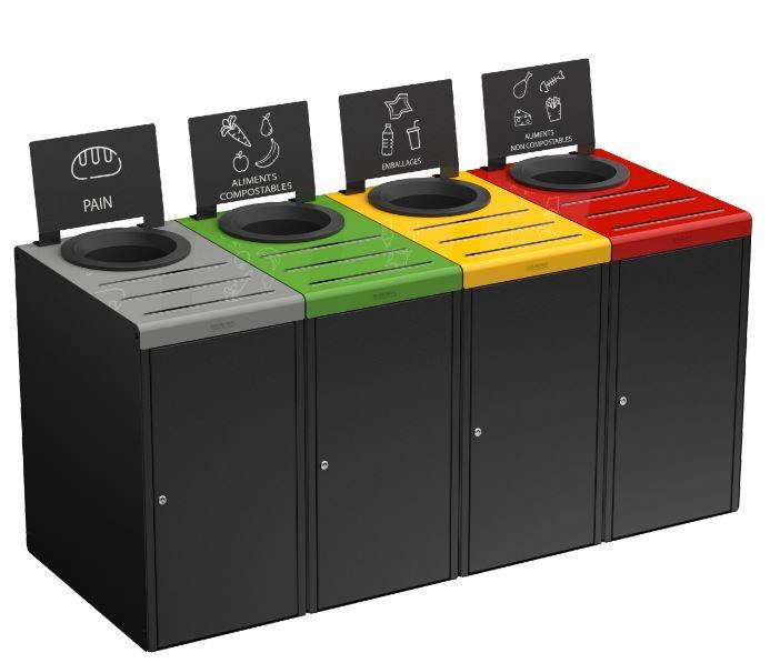 meuble de tri s lectif pour restauration 65 l bac conteneur. Black Bedroom Furniture Sets. Home Design Ideas